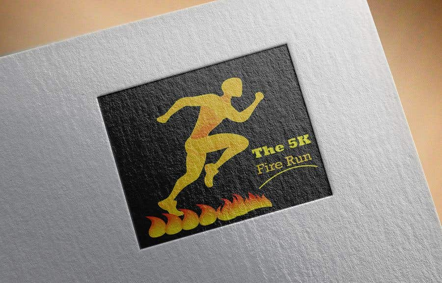 """Contest Entry #16 for Need a fake logo for the """"The 5K Fire Run"""" where people race on hot coals and fire in their bare feet"""