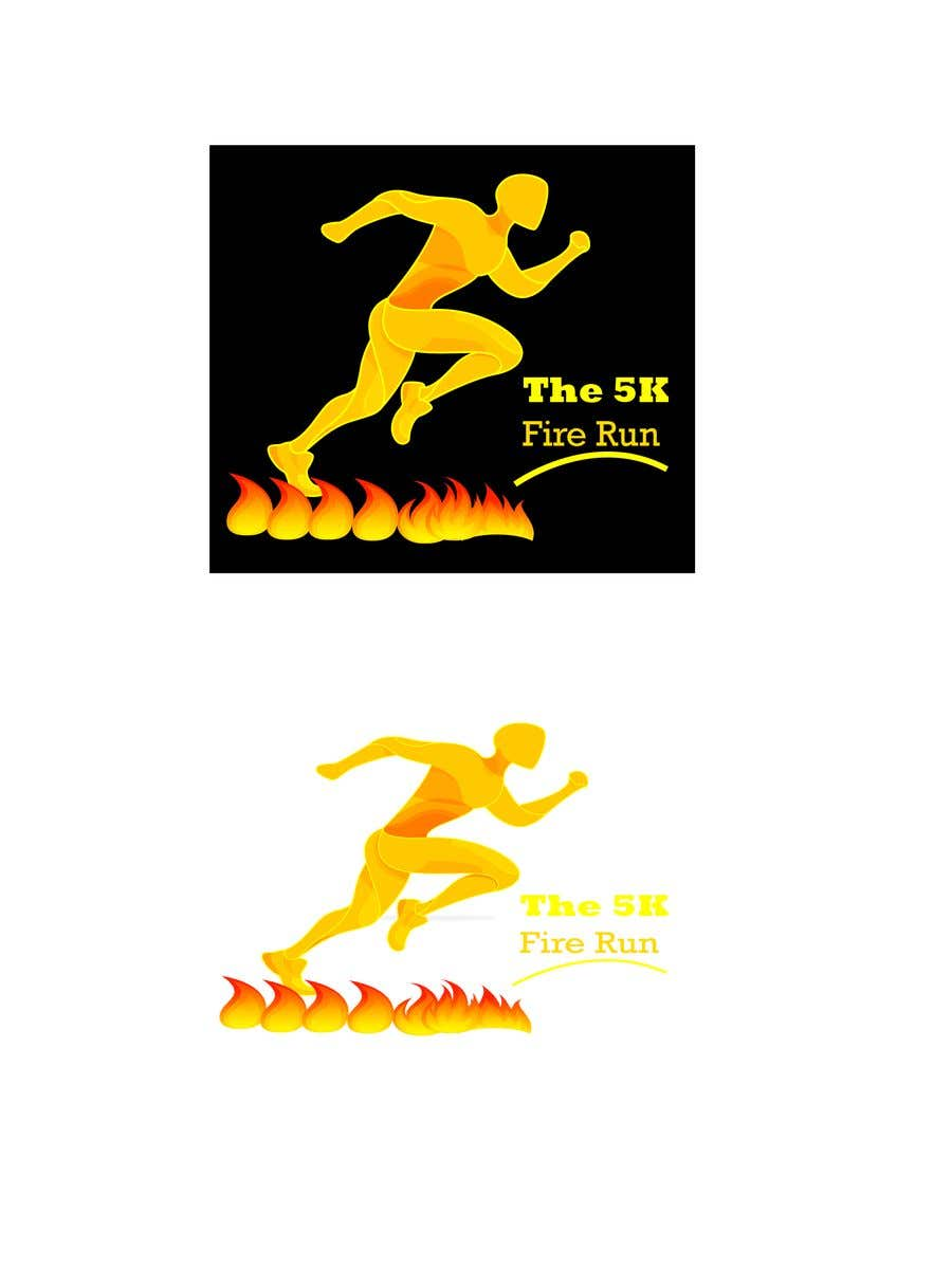 """Contest Entry #18 for Need a fake logo for the """"The 5K Fire Run"""" where people race on hot coals and fire in their bare feet"""
