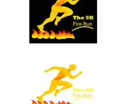 "#18 for Need a fake logo for the ""The 5K Fire Run"" where people race on hot coals and fire in their bare feet by Majedsho"