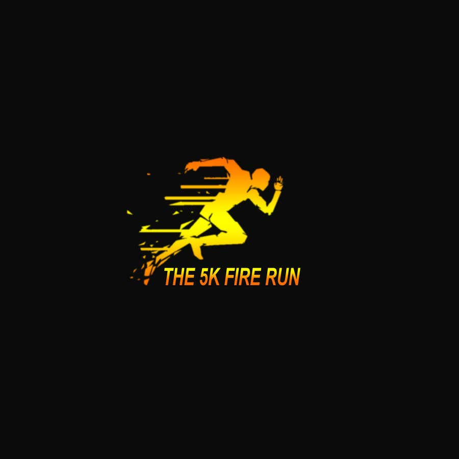 """Contest Entry #21 for Need a fake logo for the """"The 5K Fire Run"""" where people race on hot coals and fire in their bare feet"""