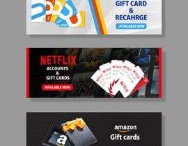 #36 для 3 Banners for my online gift card store от mtjobi