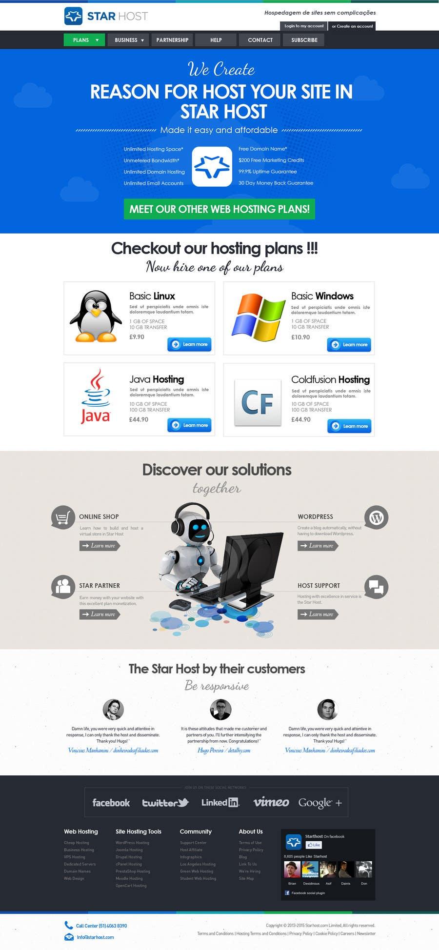 Kilpailutyö #                                        37                                      kilpailussa                                         Website Design for webhosting company