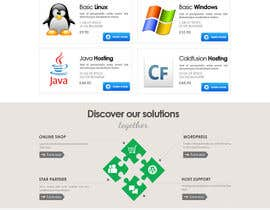 nº 57 pour Website Design for webhosting company par mughikrish