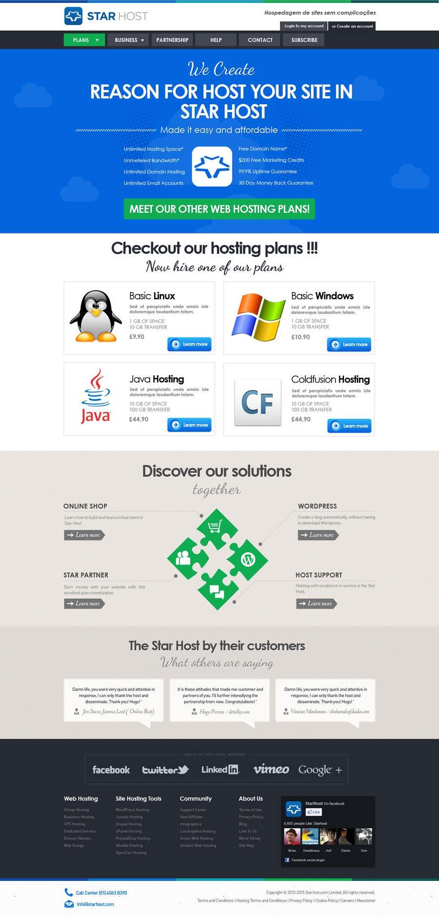 Kilpailutyö #                                        58                                      kilpailussa                                         Website Design for webhosting company