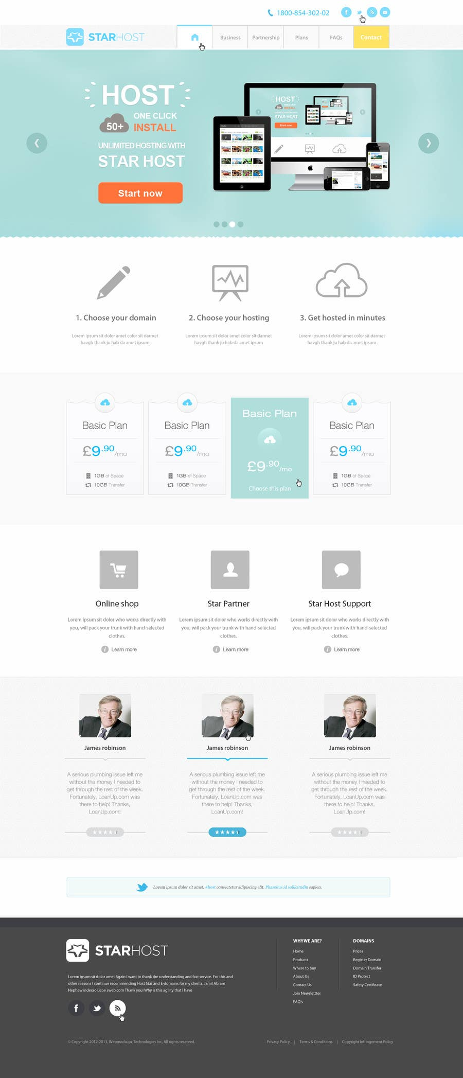 Kilpailutyö #                                        77                                      kilpailussa                                         Website Design for webhosting company
