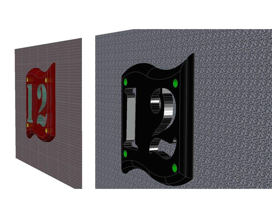 Конкурсная заявка №24 для Design big numbers (CAD) to be made in metal