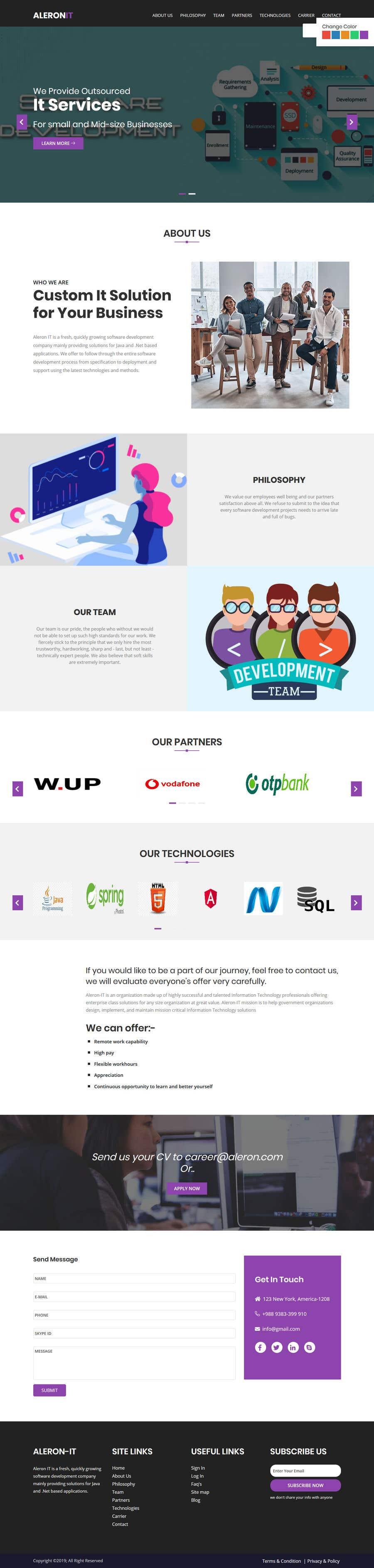 Konkurrenceindlæg #47 for Simple IT website deisgn