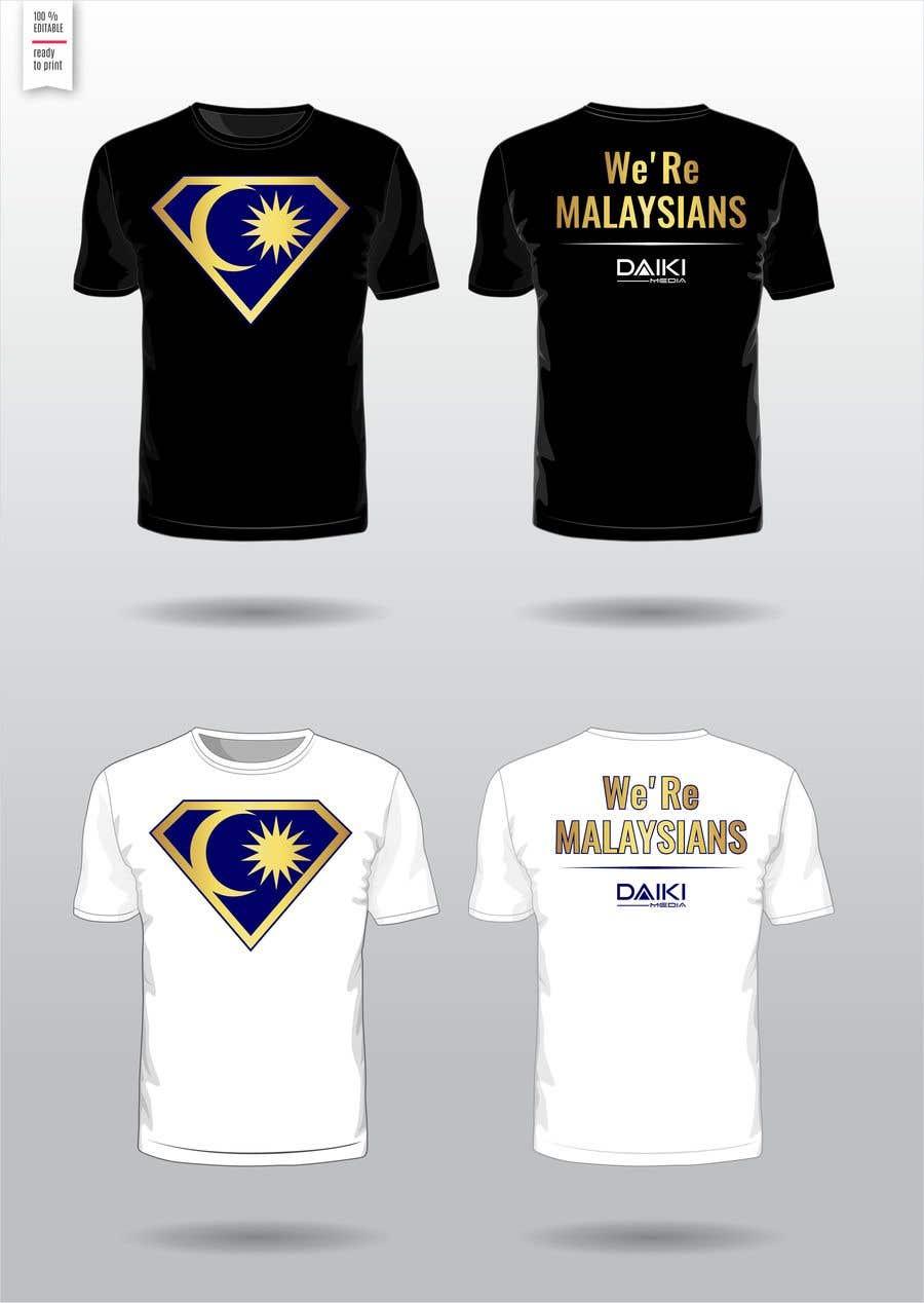 Kilpailutyö #125 kilpailussa Creative Round Neck Design T-shirt to sell ( Malaysian )