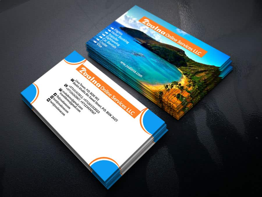 Contest Entry #32 for Business card for travel services  company