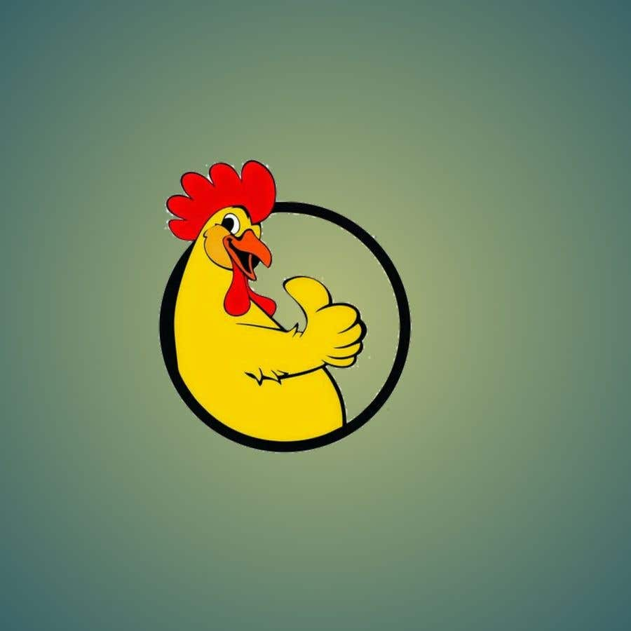 Bài tham dự cuộc thi #19 cho I need a chicken in a circle winking with a military cheeky smile