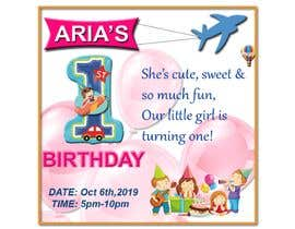 #47 for 1st bday invite by sumairfaridi