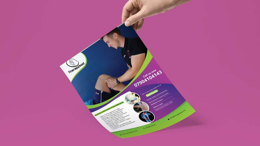 Contest Entry #85 for Flyer needed for therapy/massage business. High quality design and print clear.