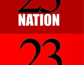 #30 for I need 'nation' in white writing sloped though the number 23 by AQGcreations