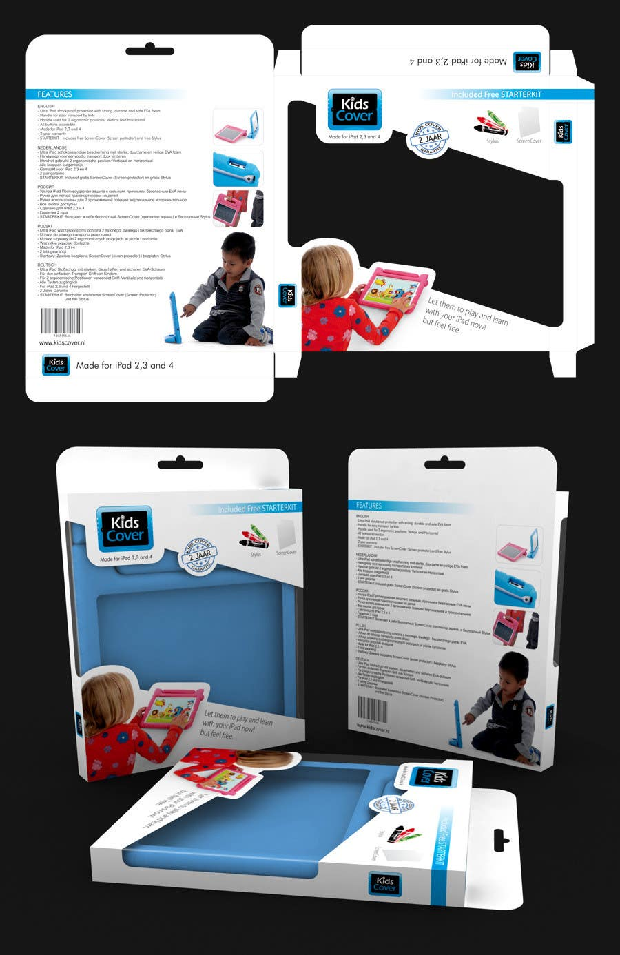 Contest Entry #                                        3                                      for                                         Packaging Design for Shockproof Kids iPad Case