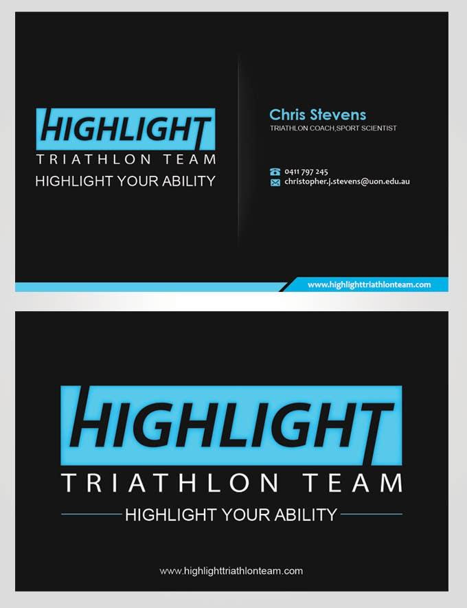 Inscrição nº 29 do Concurso para Business Card Design for Highlight Triathlon Team