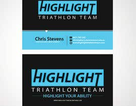 sulemankhan2010 tarafından Business Card Design for Highlight Triathlon Team için no 51
