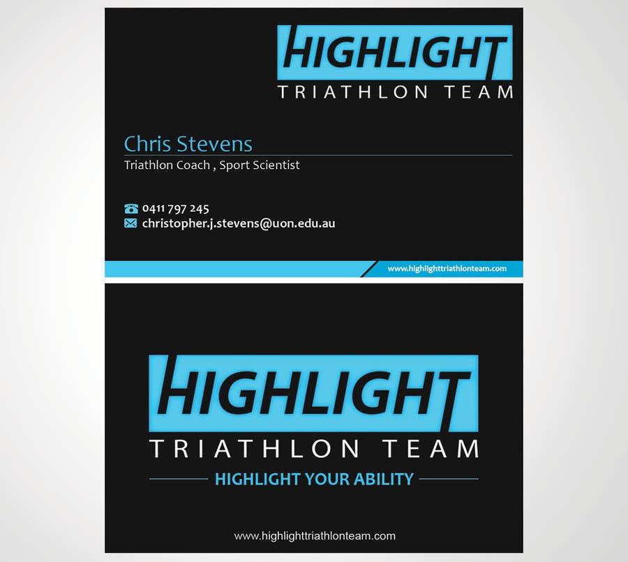 Inscrição nº 59 do Concurso para Business Card Design for Highlight Triathlon Team