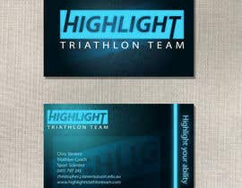 #74 para Business Card Design for Highlight Triathlon Team por DigiMonkey