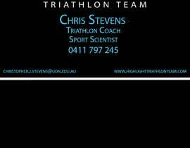 tedatkinson123 tarafından Business Card Design for Highlight Triathlon Team için no 7
