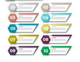 nº 61 pour Design  Graphics of Book and Chapters for a Desktop UI par Shtofff
