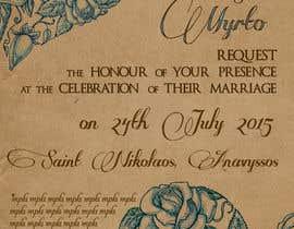 #70 для Design a Wedding Invitation от DragonFly0626