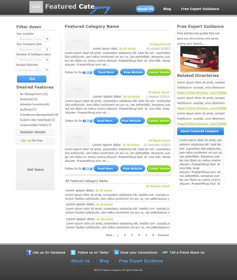 Kilpailutyö #18 kilpailussa Design one Search Results homepage