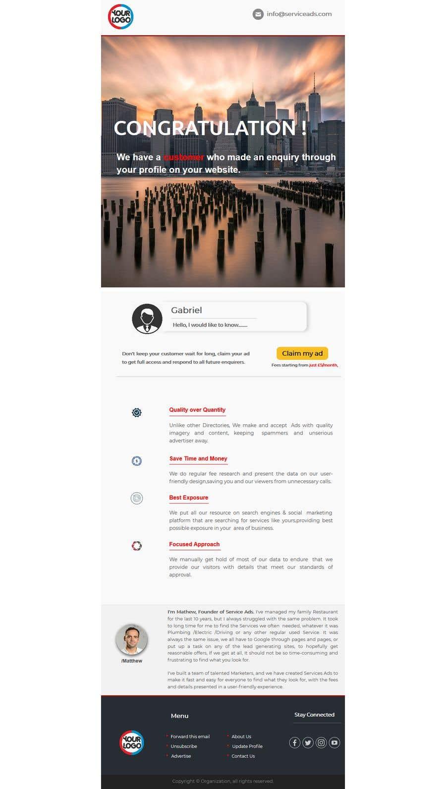 Konkurrenceindlæg #16 for Design us Email Templates