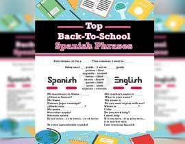 Nro 21 kilpailuun Design 1 page digital poster - Top Spanish Phrases for kids käyttäjältä islamsoyful456