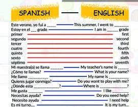 Nro 24 kilpailuun Design 1 page digital poster - Top Spanish Phrases for kids käyttäjältä roccotatheer09