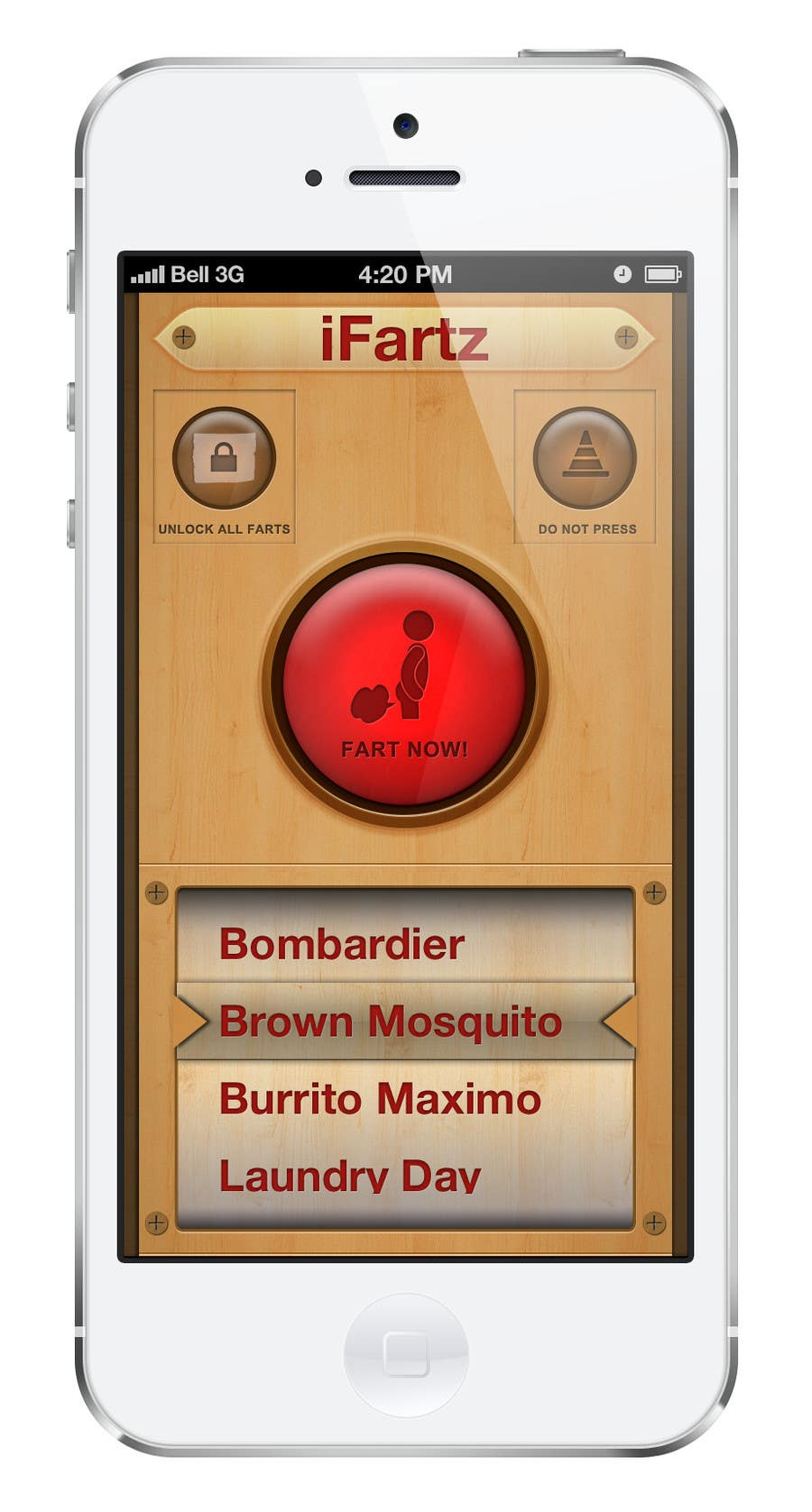 Bài tham dự cuộc thi #                                        3                                      cho                                         App Design for App Similar to iFart