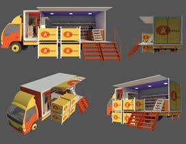 #9 cho 3D rendering and perspective layout for mobile grocery shop bởi mikiyastezera