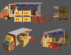 Nro 9 kilpailuun 3D rendering and perspective layout for mobile grocery shop käyttäjältä mikiyastezera