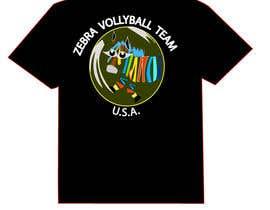 nº 26 pour Zebra Volleyball Image for Tshirt par diptidipti10