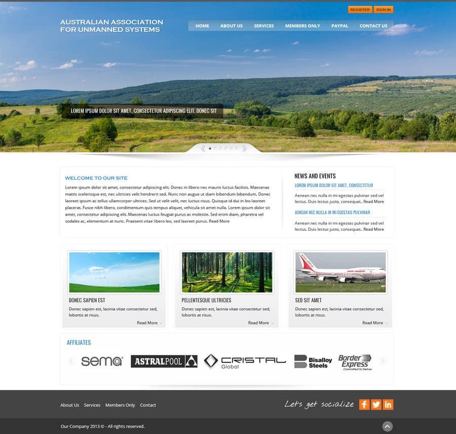 Kilpailutyö #5 kilpailussa Website Design for an Australian Association for Unmanned Systems