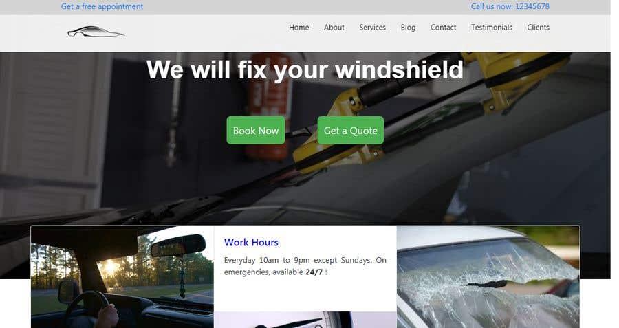Bài tham dự cuộc thi #20 cho Windshield Repair Web Page