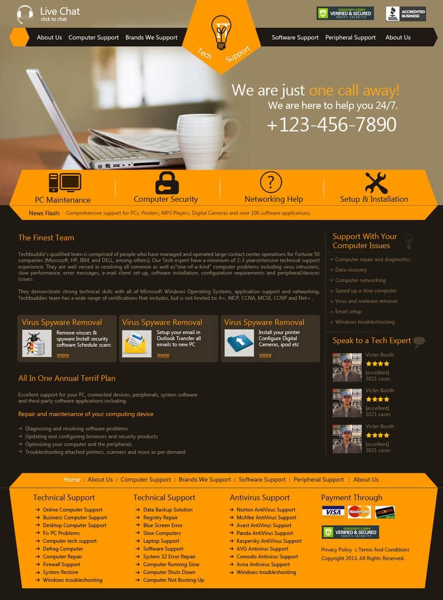 Inscrição nº 8 do Concurso para Wordpress Theme Design for IT Tech Support Help $650 to $1000
