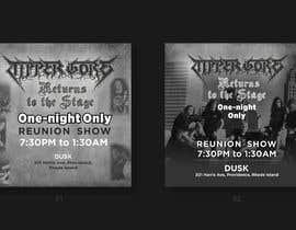 "#16 cho Facebook ad, posts, and art. Design a digital ""gig flyer"" for my metal band's concert. bởi mtjobi"