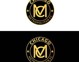 #8 для I need a logo with the wording Chicago Metropolitan FC Since 2020 that mix the two logos on file and keep the c with ball. Main colors should be Royal blue, Yellow and Dark gray. от oumomenmr