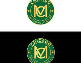 #9 для I need a logo with the wording Chicago Metropolitan FC Since 2020 that mix the two logos on file and keep the c with ball. Main colors should be Royal blue, Yellow and Dark gray. от oumomenmr