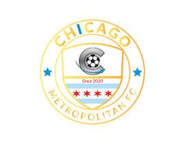#16 для I need a logo with the wording Chicago Metropolitan FC Since 2020 that mix the two logos on file and keep the c with ball. Main colors should be Royal blue, Yellow and Dark gray. от oumomenmr