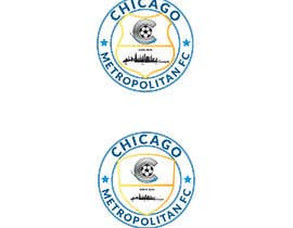 #18 для I need a logo with the wording Chicago Metropolitan FC Since 2020 that mix the two logos on file and keep the c with ball. Main colors should be Royal blue, Yellow and Dark gray. от oumomenmr