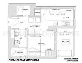 #58 untuk Please take a look on attached floor plan. We are looking for a way to move from 1 to 2 room flat oleh arqfernandezr