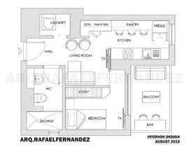#92 untuk Please take a look on attached floor plan. We are looking for a way to move from 1 to 2 room flat oleh arqfernandezr