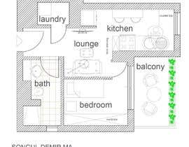 #96 untuk Please take a look on attached floor plan. We are looking for a way to move from 1 to 2 room flat oleh tosonguldemir