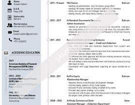 #5 for Need to convert the attach word document CV for Mr. Alqaheri to an informative Info-graphic CV. See also attached PDF example of personal profile that I like. by Suzenchong