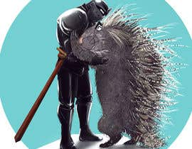 #114 cho Creative art of someone wearing battle armor hugging a porcupine. Artwork Illustration bởi soumenart