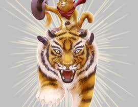 #147 cho Creative Art: A Cat Riding a Big Wild Cat Like a Horse (with Saddle) bởi felixhadi