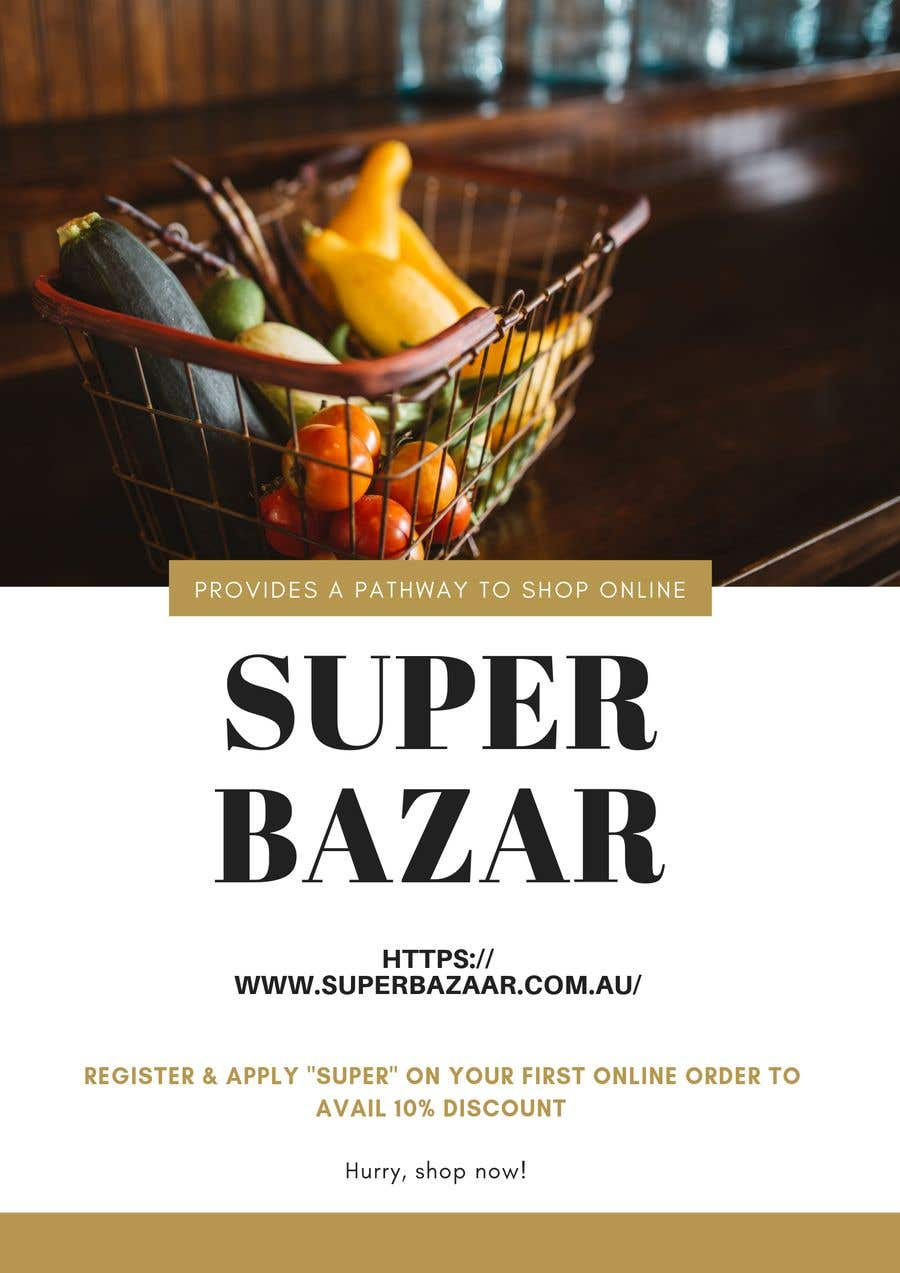 Proposition n°3 du concours https://www.superbazaar.com.au/  One Poster editing AND Two Banners to be created. Logo and existing file for poster will be shared in chat.