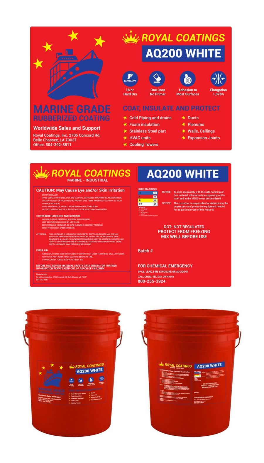 Konkurrenceindlæg #2 for Label design for 5 gallon pail