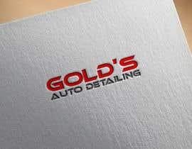 """Nro 9 kilpailuun Need a logo for my company """"Gold's Auto Detailing"""" käyttäjältä heisismailhossai"""